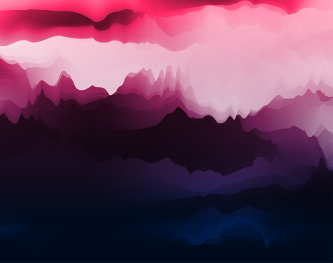 watercolor style panorama mountain landscape background