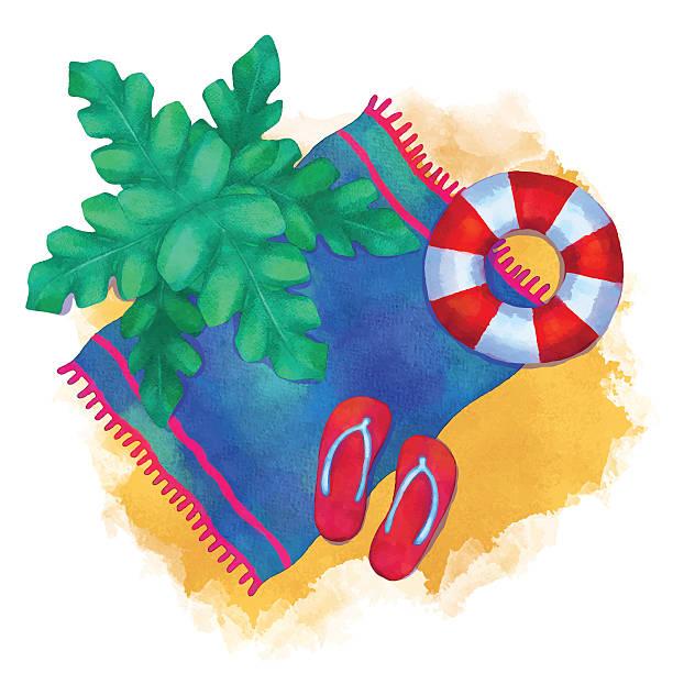 Clip Art Beach Blanket: Royalty Free White Beach Towel Clip Art, Vector Images