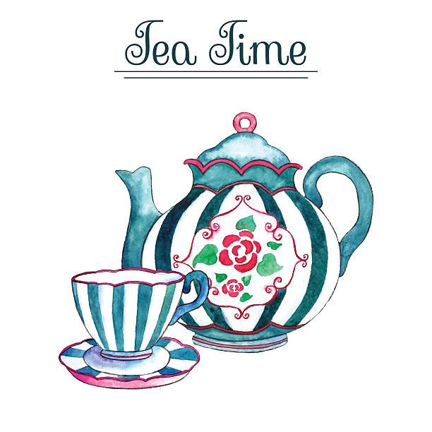 It is a picture of Fan Tea Party Clip Art