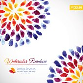 istock Watercolor template colorful rainbow brushstrokes 519996057