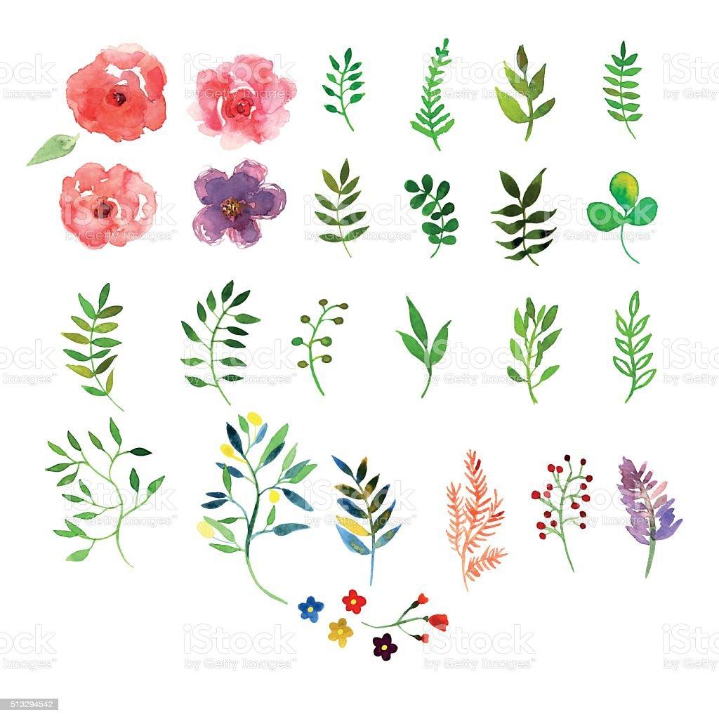 Watercolor Texturevectorkunst illustratie