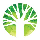 Watercolor Tree Logo