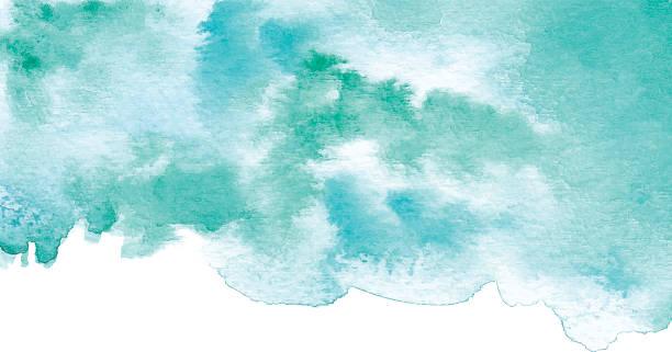 Acuarela fondo turquesa - ilustración de arte vectorial