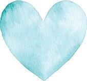 istock Watercolor Turquoise Heart 531614892