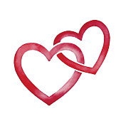 istock Watercolor Two Heart Shape Frames 1276427203