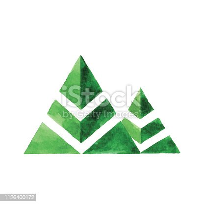 Vector illustration of two trees.
