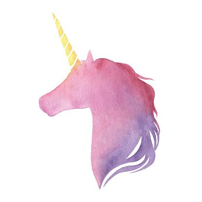 Watercolor Unicorne