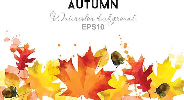 ベクトル秋の水彩バックグラウンド - 秋点のイラスト素材/クリップアート素材/マンガ素材/アイコン素材