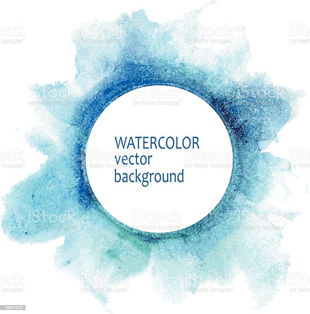 Watercolor vector background in blues vector art illustration