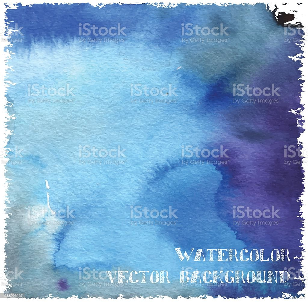 Watercolor vector background vector art illustration