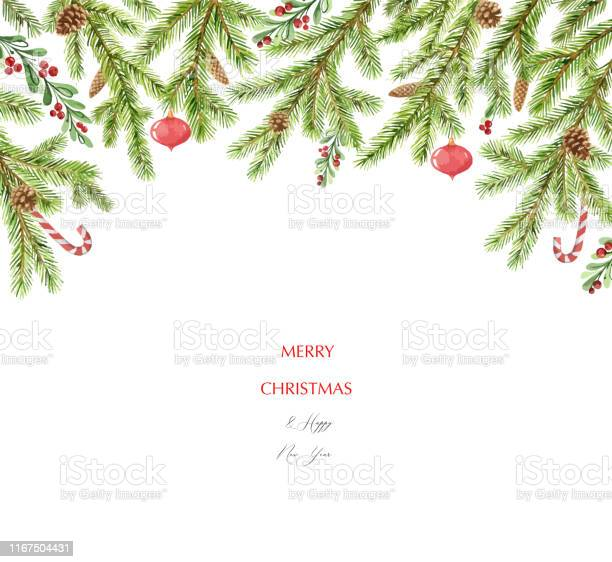 Watercolor vector christmas banner with green pine branches and place vector id1167504431?b=1&k=6&m=1167504431&s=612x612&h=3jmpy kvfgut7 n1549uvn6h4wtxoukkniiq8hm8lrm=