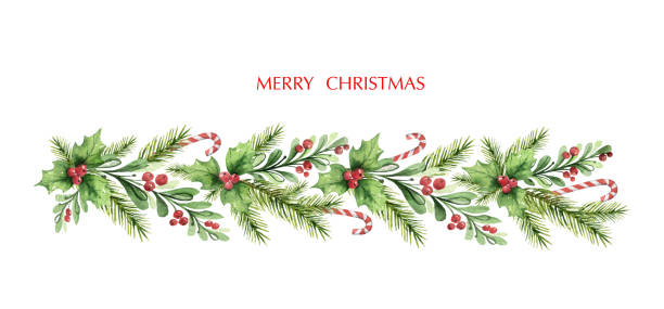 40 654 Christmas Garland Illustrations Royalty Free Vector Graphics Clip Art Istock Add these to webpages for a festive holiday feel. 40 654 christmas garland illustrations royalty free vector graphics clip art istock