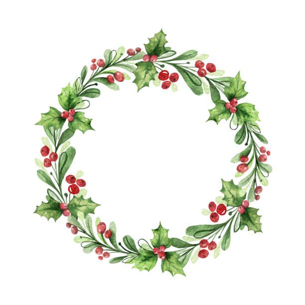 48 117 Christmas Wreath Illustrations Clip Art Istock