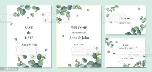 Watercolor vector set wedding invitation card template design with vector id1128913520?b=1&k=6&m=1128913520&s=612x612&h=josgvv3bkopns8smmtywrp1ti1tu2zseto0inaevpoo=