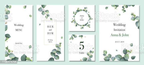 Watercolor vector set wedding invitation card template design with vector id1130474704?b=1&k=6&m=1130474704&s=612x612&h=dduesmxzoef5laxcdphvwupn495jwafprtgmxfjrrxs=