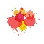 Watercolor splashes. Paint vector splat.