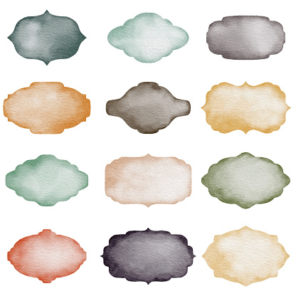Vector illustration of Watercolor backgrounds collection.