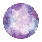 Watercolor Violet Abstract Circle