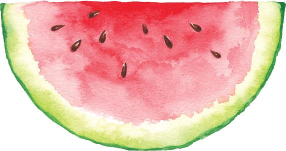 Watercolor Watermelon Slice