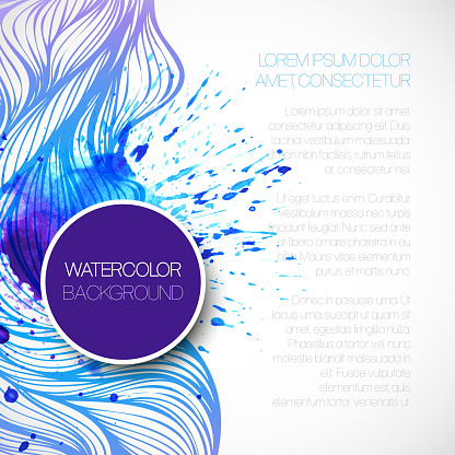 605740894 istock photo Watercolor wave background. Vector illustration 522626359