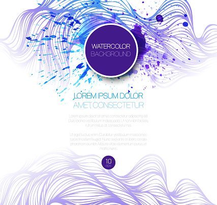 605740894 istock photo Watercolor wave background. Vector illustration 522626373