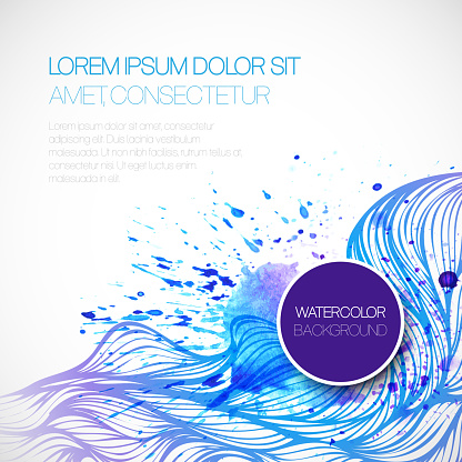 605740894 istock photo Watercolor wave background. Vector illustration 522626379