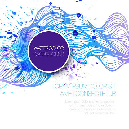605740894 istock photo Watercolor wave background. Vector illustration 522626381