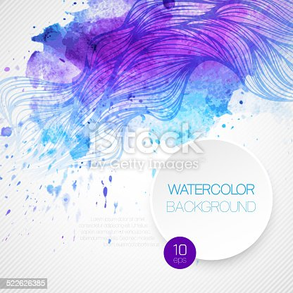 605740894 istock photo Watercolor wave background. Vector illustration 522626385