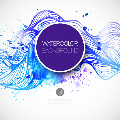 605740894 istock photo Watercolor wave background. Vector illustration 522626389