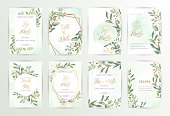 istock Watercolor wedding set. eps10 1203191838