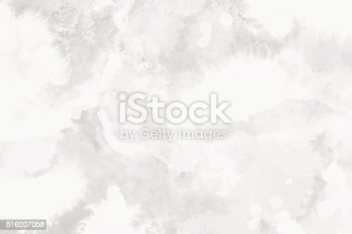 istock Watercolor white and light gray texture, background 516207058