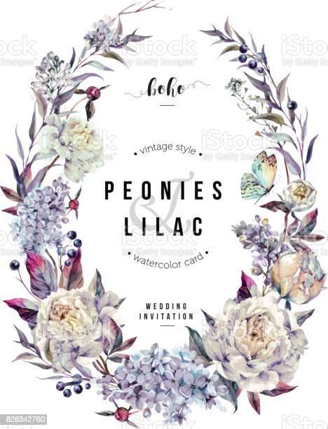 Watercolor white peonies and lilac oval wreath vector id826342760?b=1&k=6&m=826342760&s=612x612&h=ne24goox3c63muew7lijmdk2i9pgl5duuirip hd4bi=