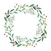 Watercolor wreath