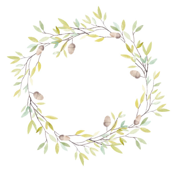 Royalty Free Fall Wreath Clip Art, Vector Images ...