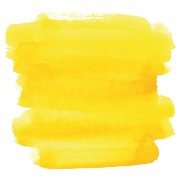 Watercolor yellow background vector art illustration