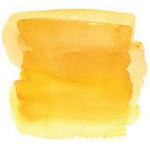 istock Watercolor yellow background 1255876369