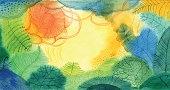 Abstract nature painting