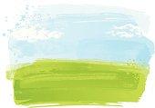 Grunge watercolour landscape background.