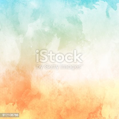 istock Watercolour texture background 912108786