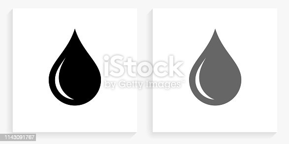 istock Waterdrop Black and White Square Icon 1143091767