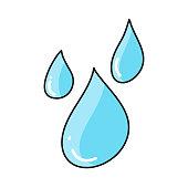 Waterdrop Line Icon, Outline Doodle Vector Symbol Illustration
