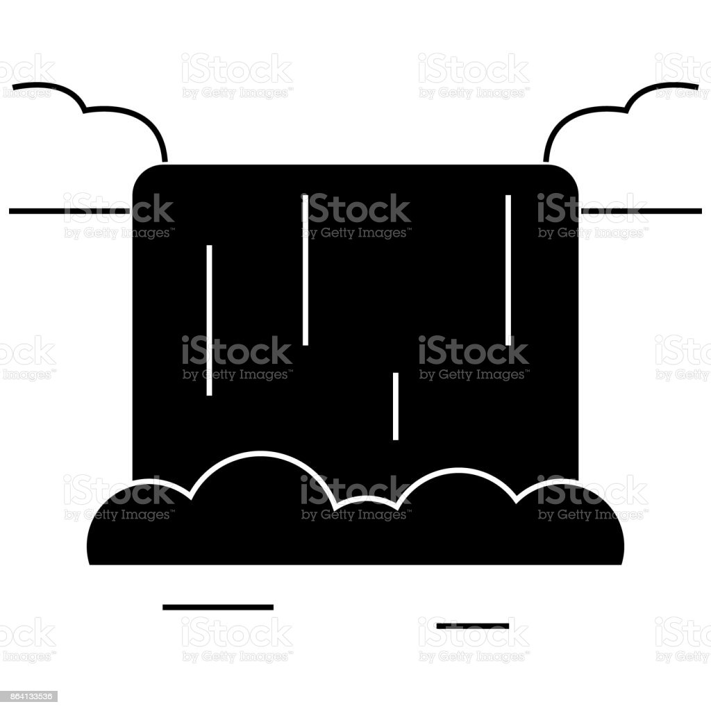 waterfall  icon, vector illustration, sign on isolated background royalty-free waterfall icon vector illustration sign on isolated background stock vector art & more images of aquatic sport