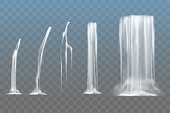 Waterfall elements set in vector