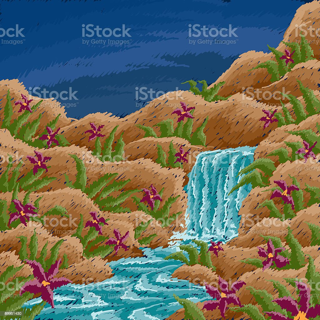 Waterfall royalty-free stock vector art