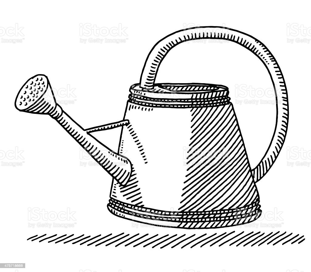 Watering can drawing