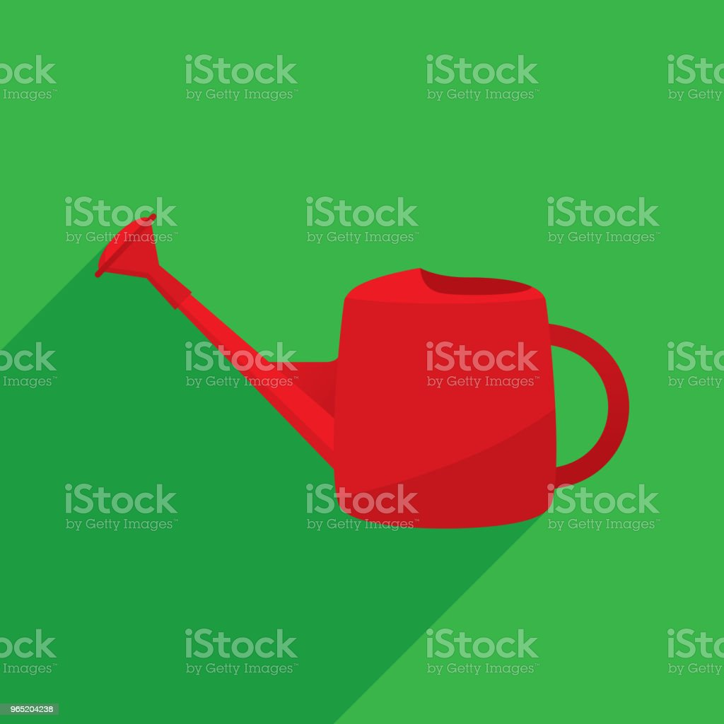Watering Can Icon Flat royalty-free watering can icon flat stock vector art & more images of agricultural sprinkler