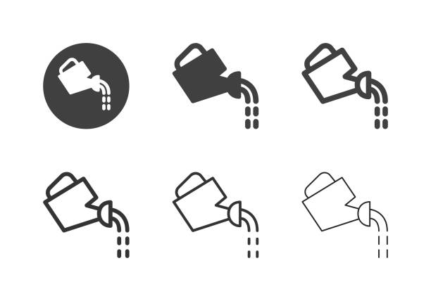 Watering Can Icons - Multi Series vector art illustration