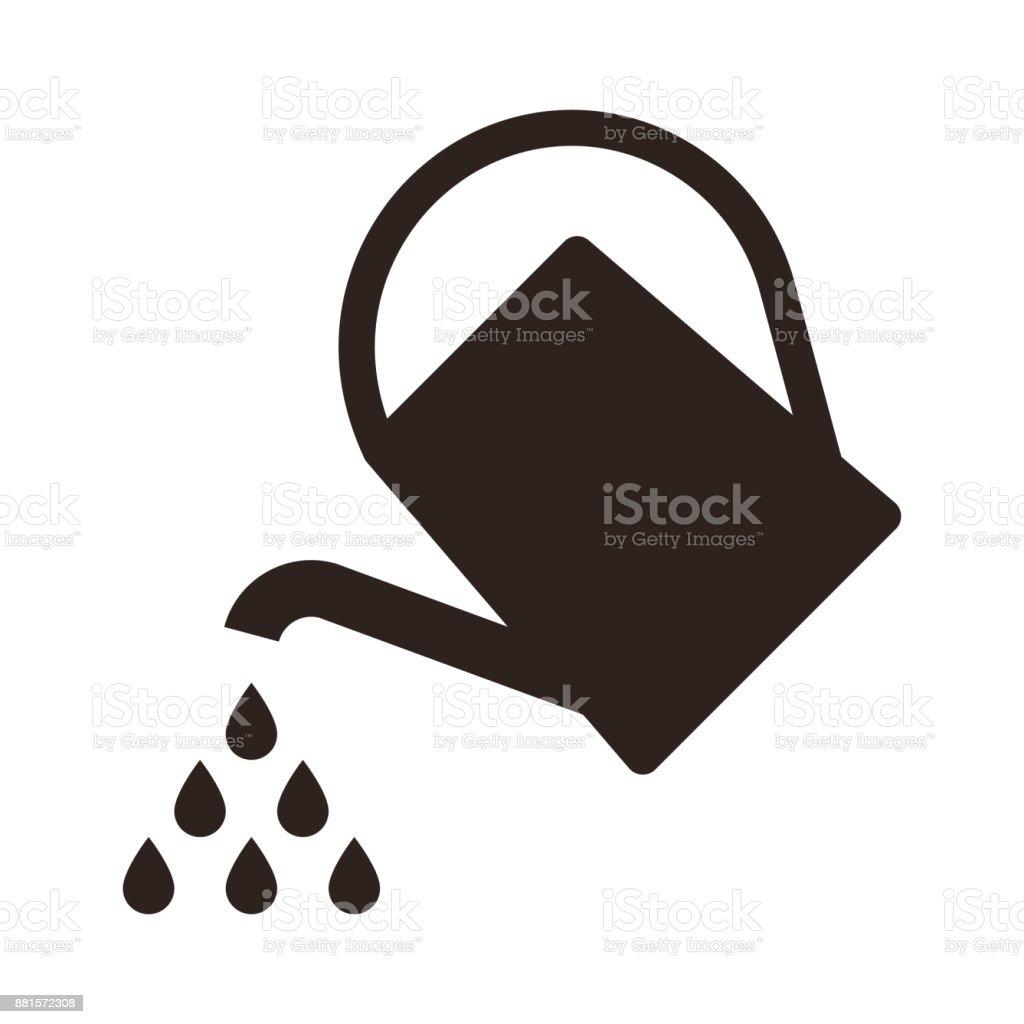 水まき缶シンボル じょうろのベクターアート素材や画像を多数ご用意