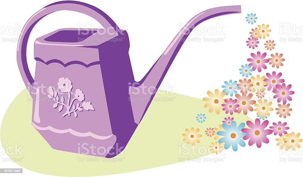 Watering can royalty-free watering can stock vector art & more images of beginnings