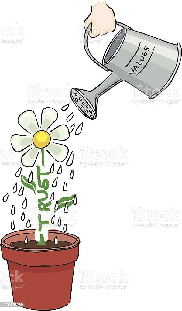 Watering royalty-free stock vector art
